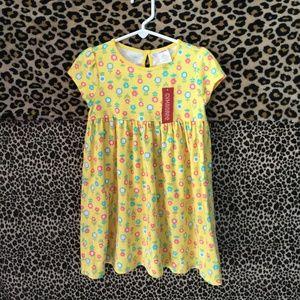 NEW Gymboree Girls Yellow Flowers Dress Size 4T